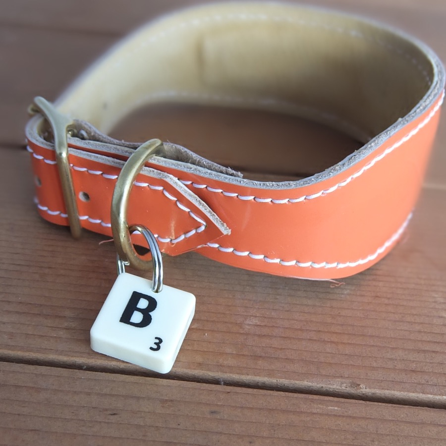 Scrabble Letter Collar Tag