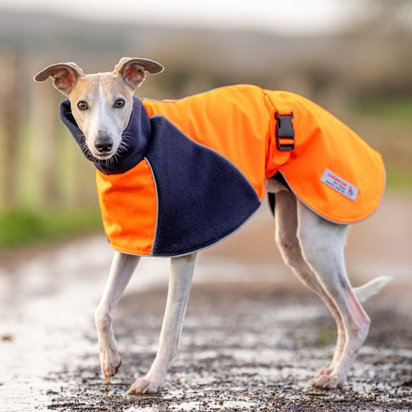 Be Seen Hi Viz Coat in Orange and Navy