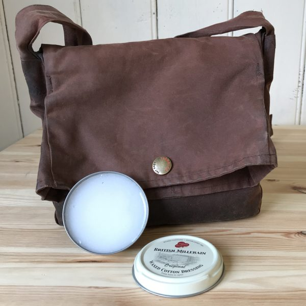 British Millerain Waxed Cotton Dressing - use on Redhound wax cotton coats and walking bags