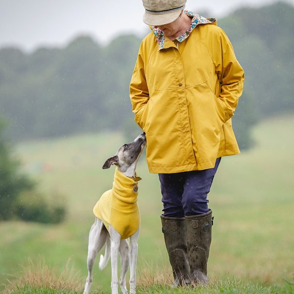 Chiltern Coat in Yellow, perfectly matched with a Yellow Fleece for your Hound