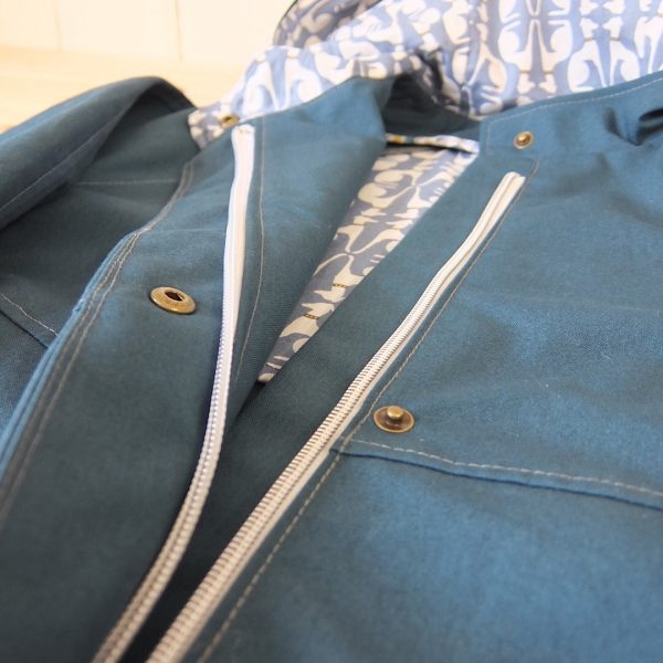 Chiltern Coat in Teal Detail