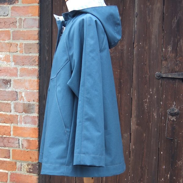 Chiltern Coat in Teal, side view