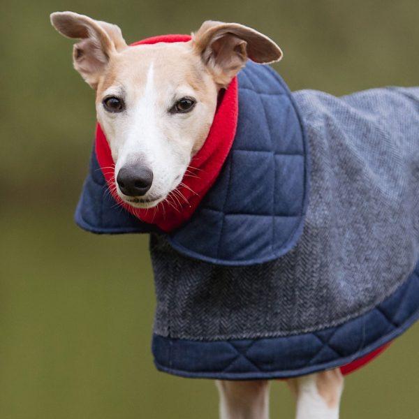 Hampstead Denim Coat with Red Fleece