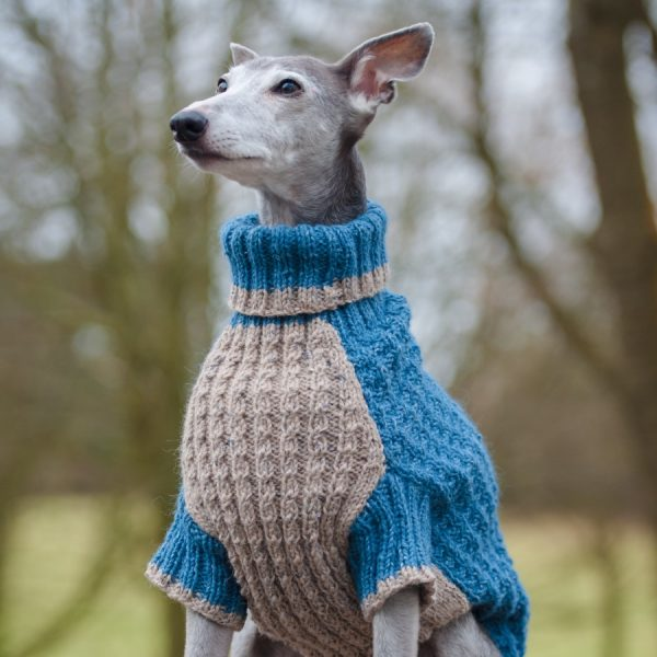 Whippet hand knitted