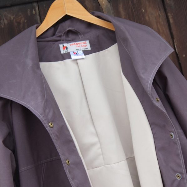 Malvern Coat in Solid Grey, Open Front