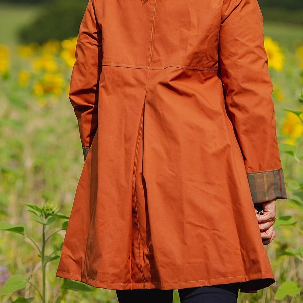 Malvern Coat in Rust - Back detail