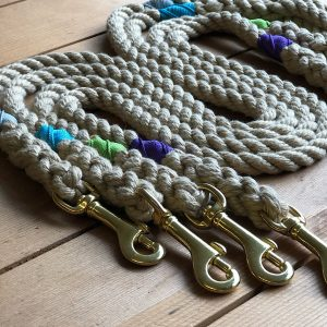 Soft Rope Leads with accents in Mist, Turquoise, Pistachio and Purple