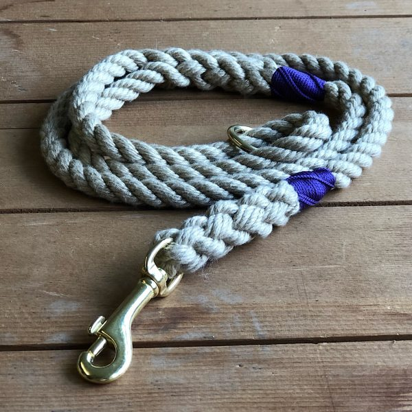 Soft Rope Lead with Purple Whipping