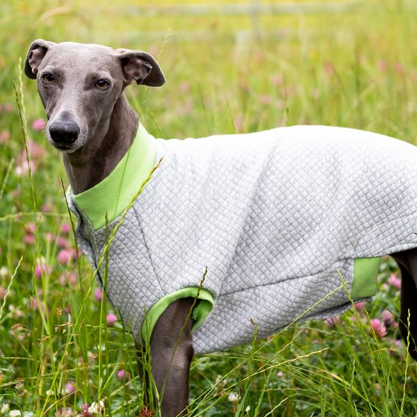 Quiltee Gilet in Grey & Lime